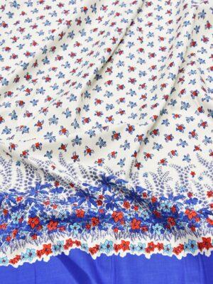 Хлопок в мелкий цветочек с каймой (5145) - Фото 13