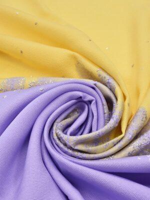 Жаккард абстрактный узор с серебряным накатом (5196) - Фото 16