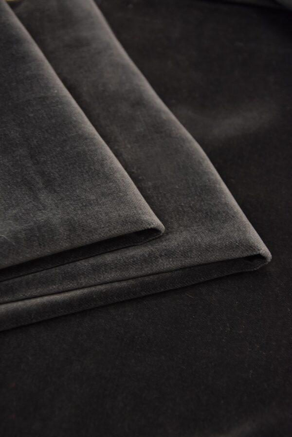 Бархат хлопковый дымчатого оттенка (5256) - Фото 8