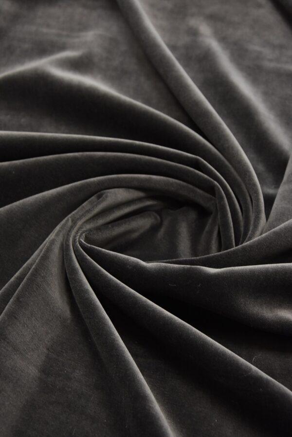 Бархат хлопковый дымчатого оттенка (5256) - Фото 7