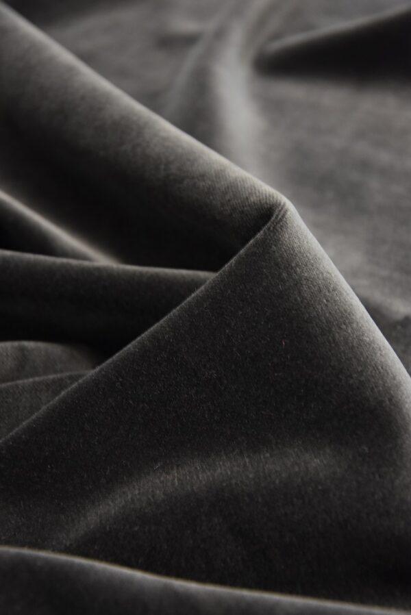 Бархат хлопковый дымчатого оттенка (5256) - Фото 9