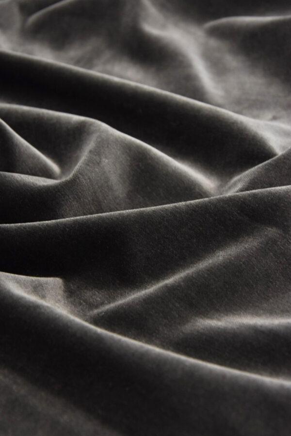 Бархат хлопковый дымчатого оттенка (5256) - Фото 6