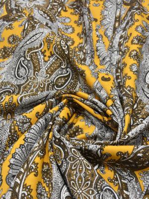 Джинс стрейч желтый с узором пейсли (5317) - Фото 15