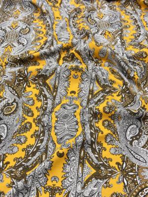 Джинс стрейч желтый с узором пейсли (5317) - Фото 14