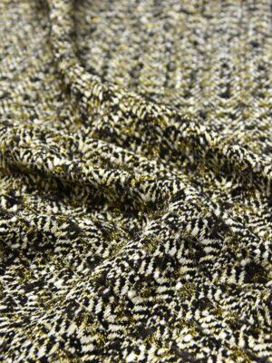 Твид шерсть черно-белый с золотистым люрексом (5320) - Фото 15