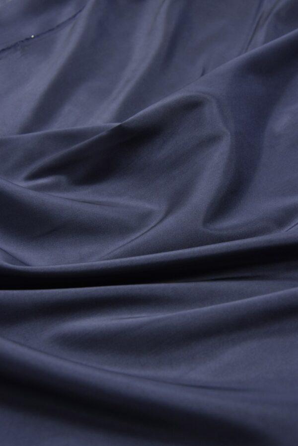 Подкладочная вискоза стрейч темно-синего оттенка (5362) - Фото 6