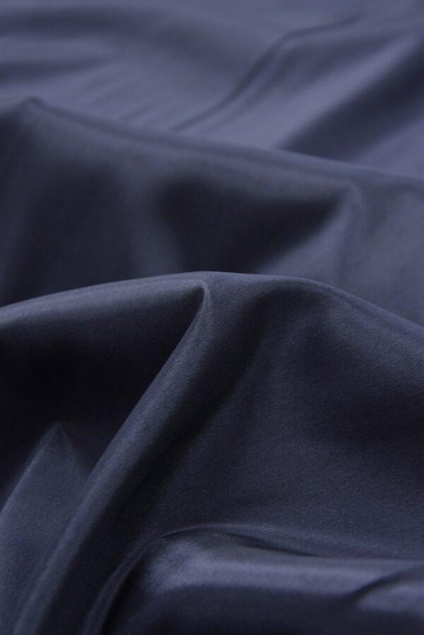 Подкладочная вискоза стрейч темно-синего оттенка (5362) - Фото 8