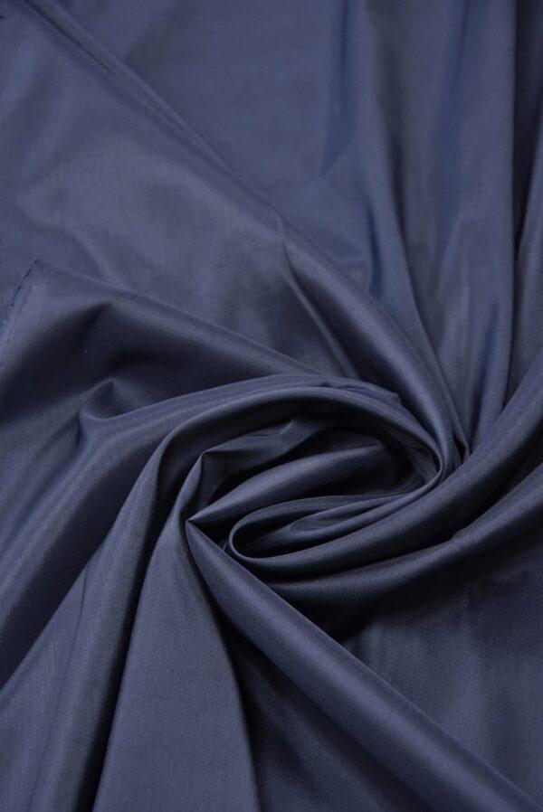 Подкладочная вискоза стрейч темно-синего оттенка (5362) - Фото 7