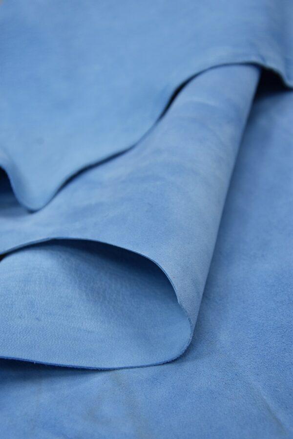 Замша натуральная тонкая плательная голубой оттенок (5371) - Фото 10