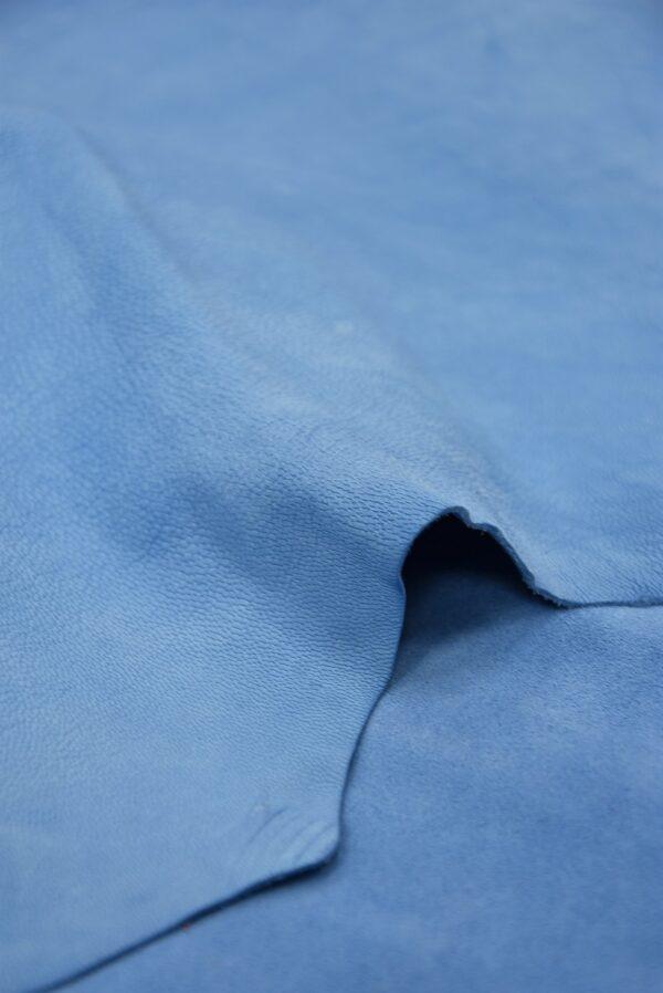 Замша натуральная тонкая плательная голубой оттенок (5371) - Фото 11