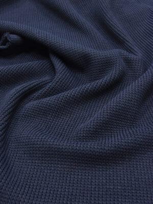 Джерси крупная вязка цвет темно-синий (5373) - Фото 16