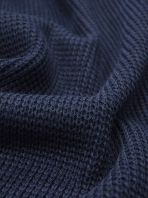 Джерси крупная вязка цвет темно-синий (5373) - Фото 17