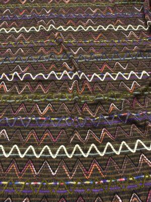 Трикотаж разноцветный зигзаг на коричневом (5401) - Фото 14