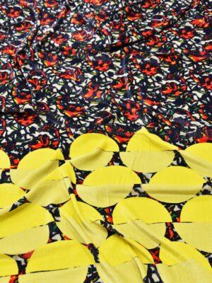 Бархат купон красно-желтый цветы (5440) - Фото 11