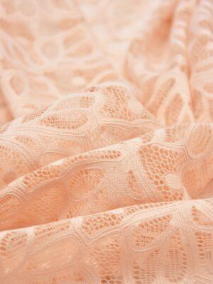 Кружево персиковое с узором из листочков (5466) - Фото 19