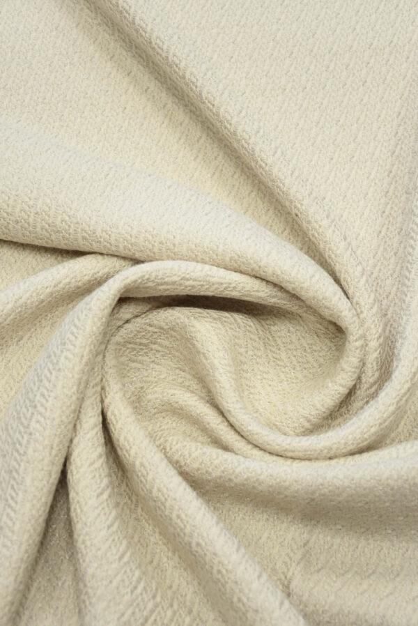 Костюмная шерсть пудрового оттенка с вязаной фактурой (5489) - Фото 8