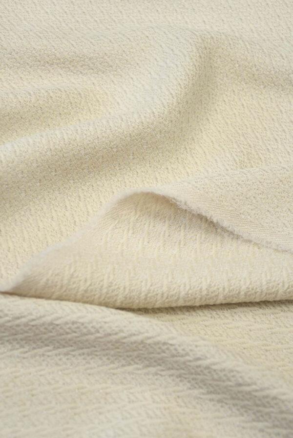 Костюмная шерсть пудрового оттенка с вязаной фактурой (5489) - Фото 7