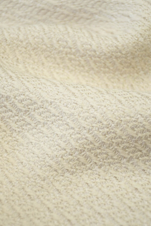 Костюмная шерсть пудрового оттенка с вязаной фактурой (5489) - Фото 10