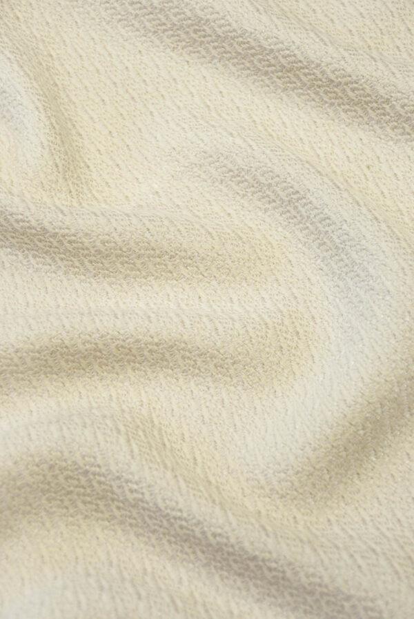 Костюмная шерсть пудрового оттенка с вязаной фактурой (5489) - Фото 6