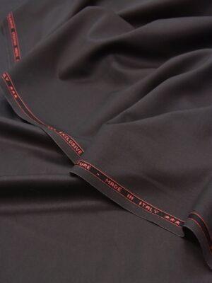 Костюмная шерсть стрейч серо-коричневая (5520) - Фото 13