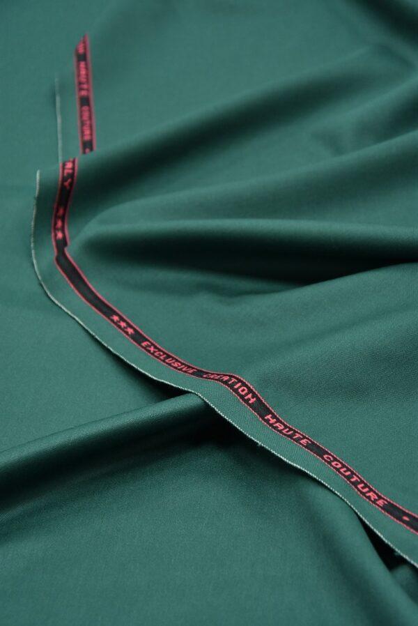 Костюмная шерсть стрейч зеленый оттенок  (5521) - Фото 6