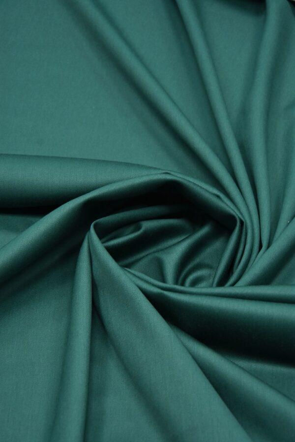 Костюмная шерсть стрейч зеленый оттенок  (5521) - Фото 7