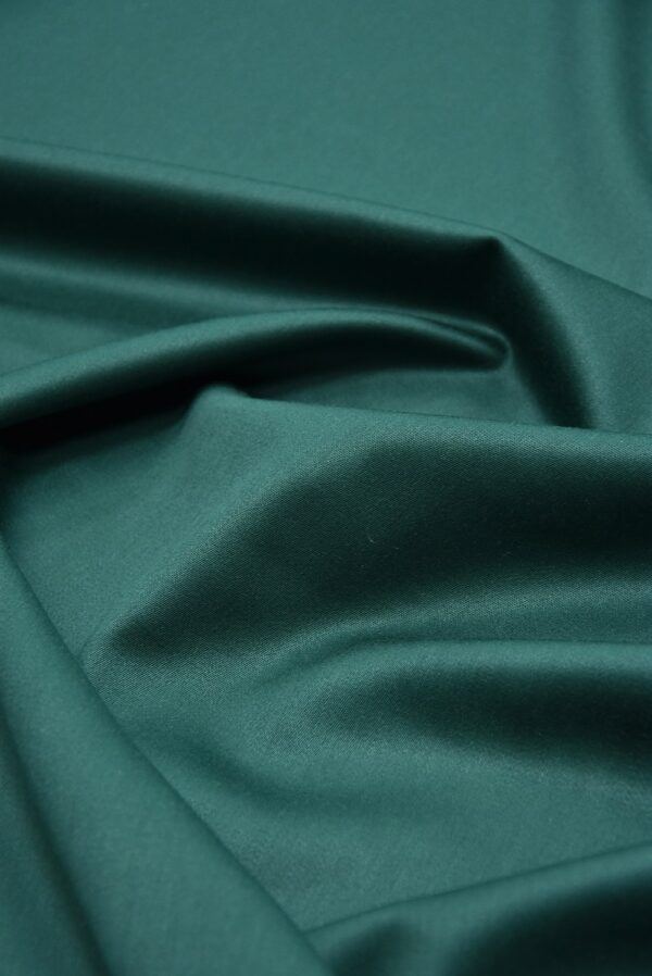 Костюмная шерсть стрейч зеленый оттенок  (5521) - Фото 9