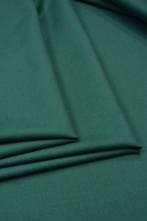 Костюмная шерсть стрейч зеленый оттенок  (5521) - Фото 8