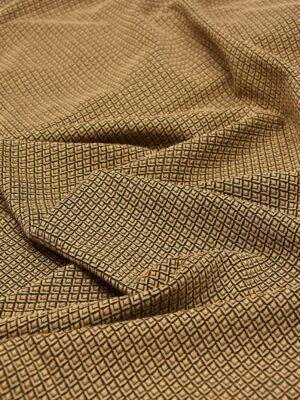 Джерси коричневый в мелкий ромбик (5529) - Фото 20