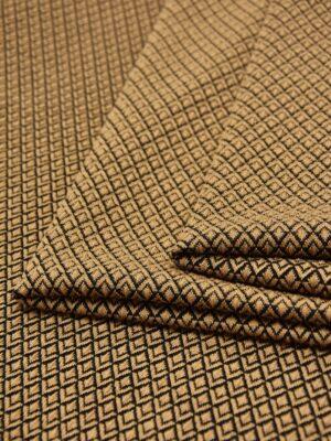 Джерси коричневый в мелкий ромбик (5529) - Фото 21