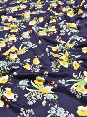 Штапель желтые цветы на синем (5591) - Фото 18