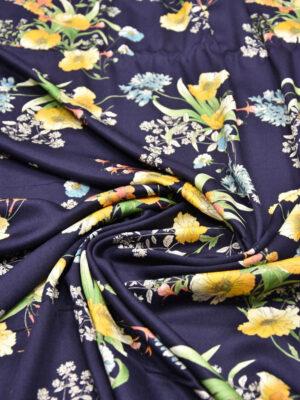 Штапель желтые цветы на синем (5591) - Фото 19