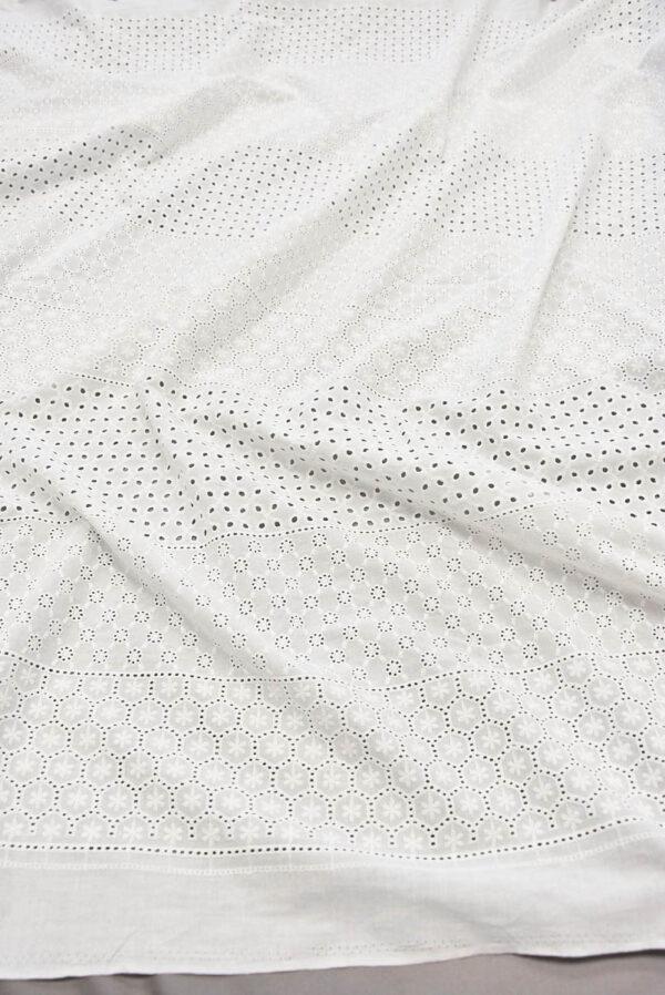 Шитье белое с мелким узором в цветочек (5616) - Фото 6