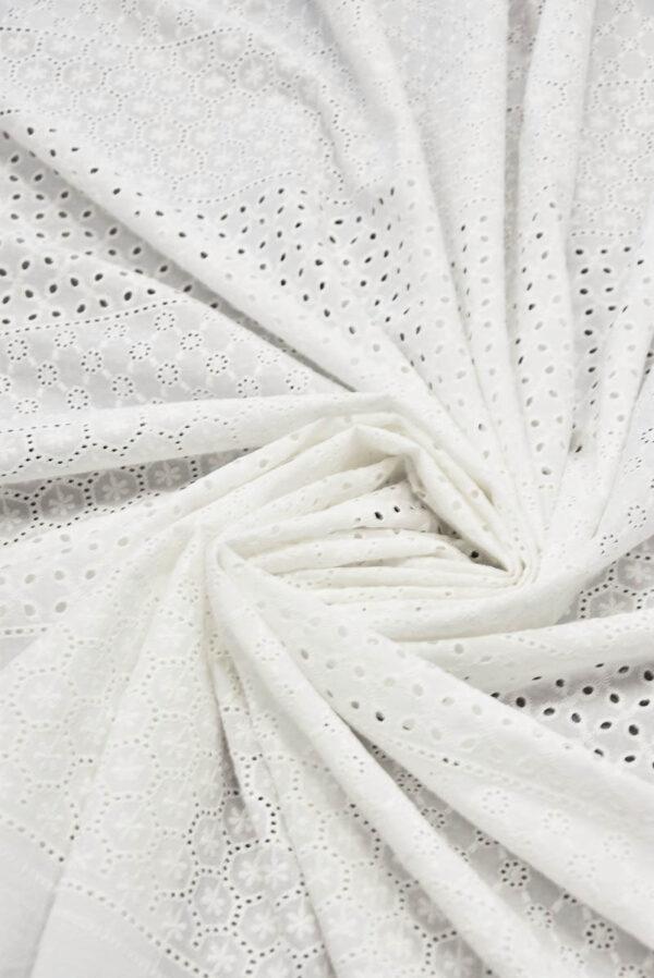 Шитье белое с мелким узором в цветочек (5616) - Фото 8