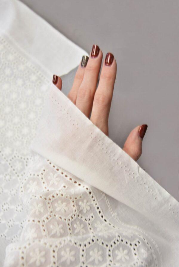 Шитье белое с мелким узором в цветочек (5616) - Фото 10