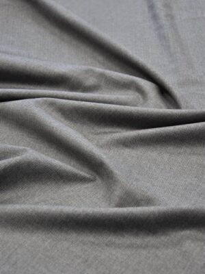Костюмная шерсть серый меланж (5662) - Фото 13