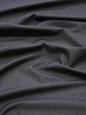 Костюмная шерсть серая в мелкую клетку шотландку (5682) - Фото 11
