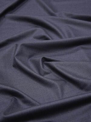 Костюмная шерсть темно-серая с синим оттенком в клетку (5686) - Фото 11