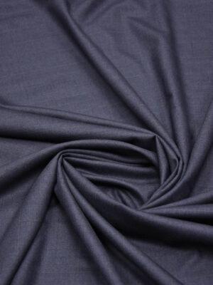 Костюмная шерсть темно-серая с синим оттенком в клетку (5686) - Фото 12