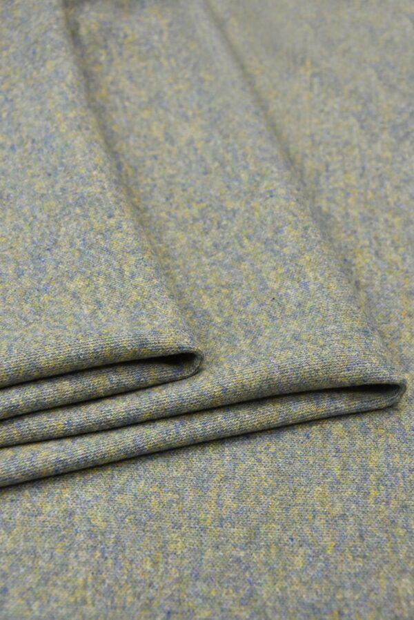 Джерси двухсторонний оливковый/голубой (5697) - Фото 8