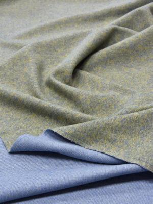 Джерси двухсторонний оливковый/голубой (5697) - Фото 15