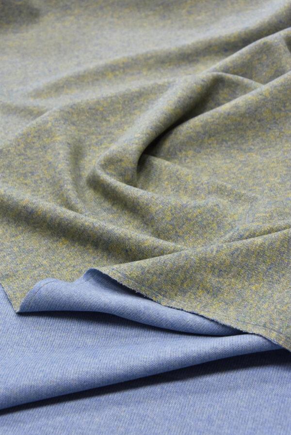Джерси двухсторонний оливковый/голубой (5697) - Фото 6