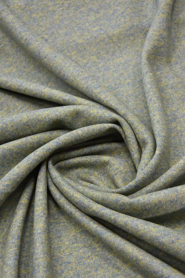 Джерси двухсторонний оливковый/голубой (5697) - Фото 7