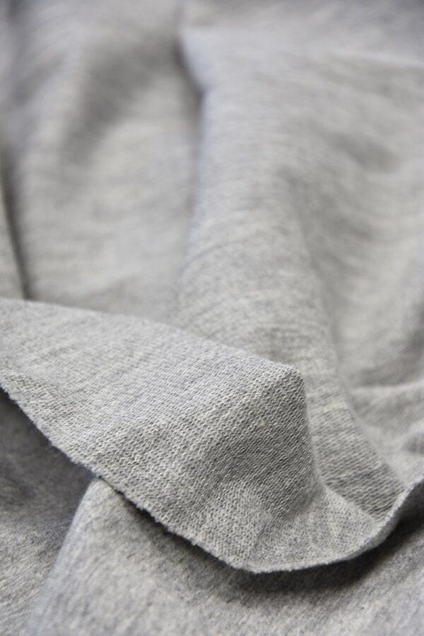 Джерси стрейч с вышивкой меховые глазки на сером (5720) - Фото 9