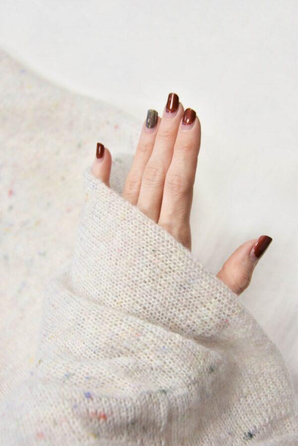 Трикотаж шерсть вязаный молочный (5766) - Фото 9