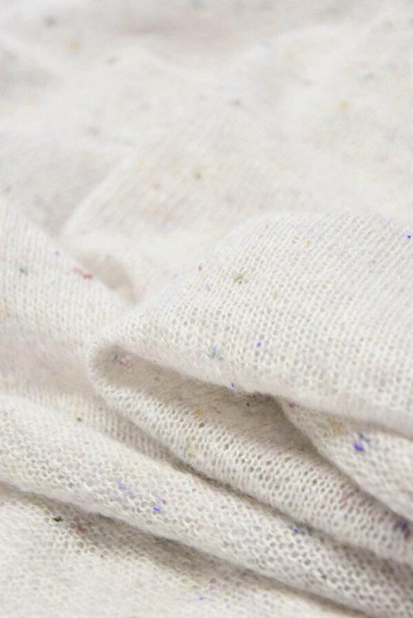Трикотаж шерсть вязаный молочный (5766) - Фото 7