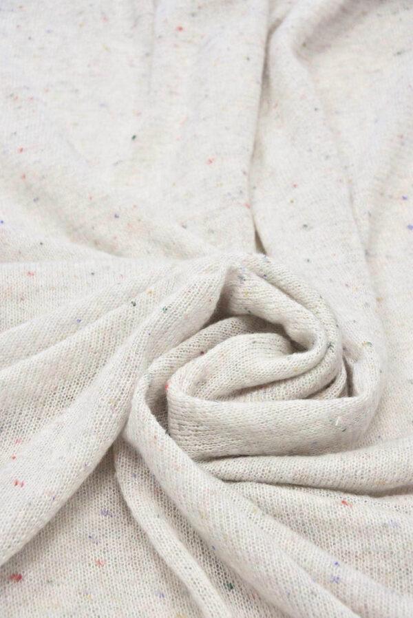 Трикотаж шерсть вязаный молочный (5766) - Фото 10