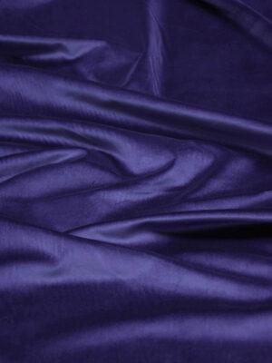 Бархат хлопковый синий костюмно-плательный (5772) - Фото 14