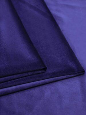 Бархат хлопковый синий костюмно-плательный (5772) - Фото 15
