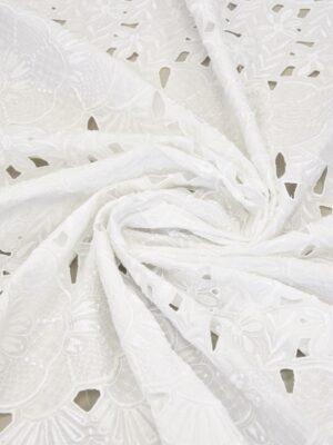 Шитье цветочный узор на белом хлопке (5849) - Фото 16
